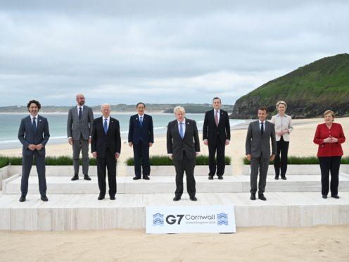 G7 leaders at Carbis Bay, Cornwall (PA)