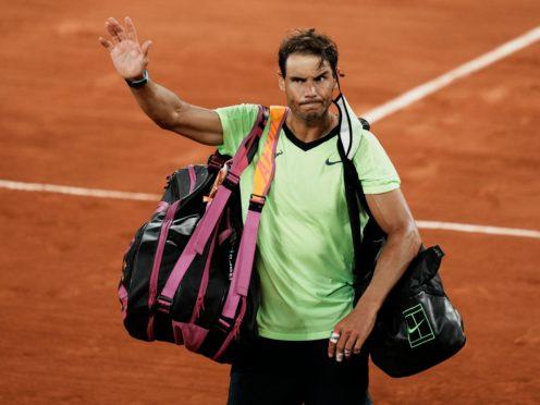Rafael Nadal struggled physically during his French Open semi-final against Novak Djokovic (Thibault Camus/AP)