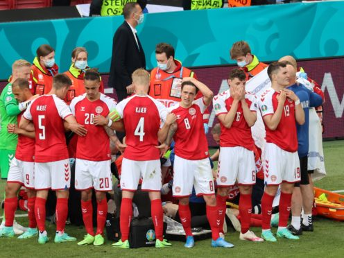 Denmark are back in action for the first time since their harrowing experience at the weekend (Wolfgang Rattay/AP)