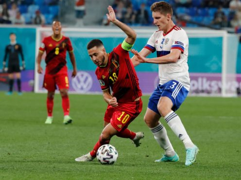 Eden Hazard has made two second-half appearances for Belgium at Euro 2020 (Anatoly Maltsev/Pool via AP)