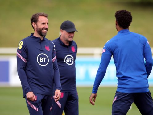 England manager Gareth Southgate (left) is preparing his squad for Friday's clash with Scotland (Nick Potts/PA).