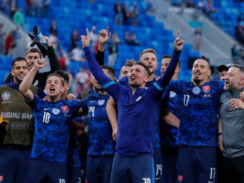 Slovakia claimed a famous win over Poland (Evgenya Novozhenina/AP).