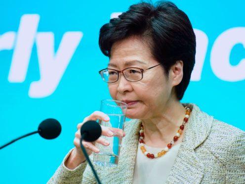 Hong Kong chief executive Carrie Lam (AP)
