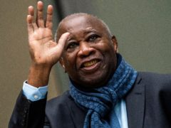 Former Ivory Coast president Laurent Gbagbo (AP/Jerry Lampen, Pool)