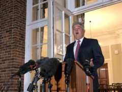 NI Secretary Brandon Lewis press conference outside Stormont House in Belfast (Picture: David Young/PA)