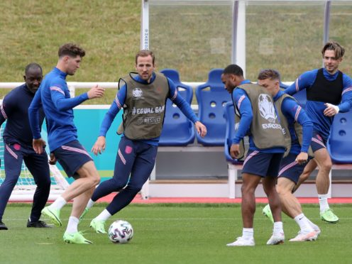 All 26 members of England's Euro 2020 squad trained on the eve of the Scotland clash (Nick Potts/PA)