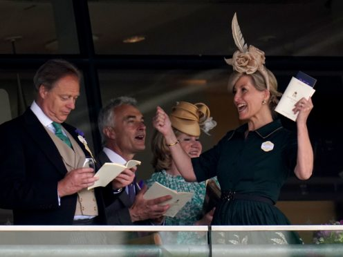 The Countess of Wessex (right) watches the Ribblesdale Stakes (Andrew Matthews/PA)