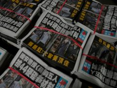 Copies of Apple Daily newspaper (AP)