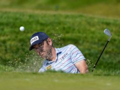 Louis Oosthuizen held a share of the lead in the 121st US Open (Marcio Jose Sanchez/AP)
