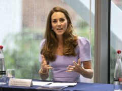 The Duchess of Cambridge takes part in a roundtable discussion (Richard Pohle/The Times/PA)