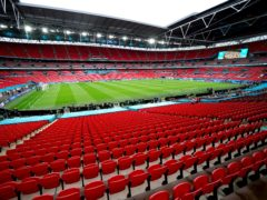 The Government has announced the final four Euro 2020 matches at Wembley will be played in front of at least 40,000 spectators (Mike Egerton/PA)