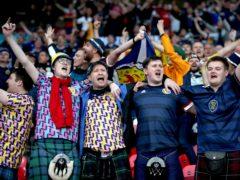 Scotland fans sing their national anthem (Nick Potts/PA)