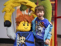 Sebby Brett at Legoland (Steve Parsons/PA)
