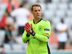 Manuel Neuer has worn the rainbow armband in Germany's two games so far (Philipp Guelland/AP)