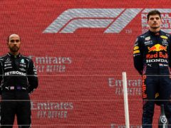 Lewis Hamilton, left, was beaten by Max Verstappen in France (Nicolas Tucat/AP)