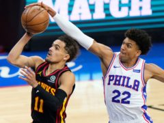 The Atlanta Hawks are through to the Eastern Conference Finals for the first time since 2015 after a suprise game-seven win against the top-seeded Philadelphia 76ers (Matt Slocum/AP)