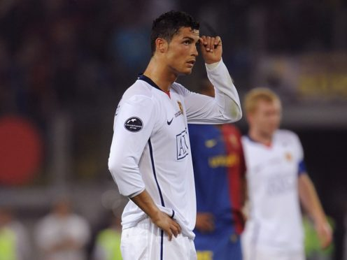 Cristiano Ronaldo's final appearance for Manchester United was in the 2009 Champions League final defeat to Barcelona (Rebecca Naden/PA)