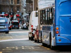 Temporary bus lanes will be made permanent as part of the scheme to improve services (Scottish Government/PA)