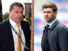 Ange Postecoglou and Steven Gerrard will go head to head in late August (PA)