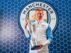 Kevin De Bruyne has been named PFA men's player of the season again (PFA handout/PA)