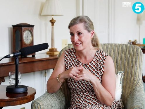 The Countess of Wessex spoke of the death of the Duke of Edinburgh (BBC Radio 5 Live)