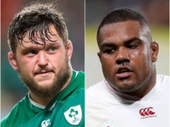 Andrew Porter, left, is out of the British and Irish Lions tour, with Kyle Sinckler, right, brought in (PA Images)