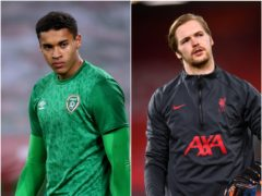 Gavin Bazunu (left) and Caoimhin Kelleher are rivals for the Republic of Ireland goalkeeper's shirt (Brian Lawless/Paul Ellis/PA)