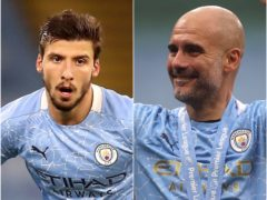 Manchester City's Ruben Dias (left) and Pep Guardiola have been awarded (Martin Rickett/Carl Recine/PA)