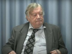 Lord Ken Clarke appears for the final day of his witness evidence at the Infected Blood Inquiry (Infected Blood Inquiry/PA)