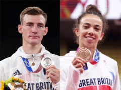 Bradly Sinden and Chelsie Giles on Sunday won Britain's first medals of Tokyo 2020 (PA)