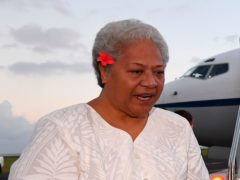 Fiame Naomi Mata'afa has finally taken office as prime minister of Samoa more than three months after winning an election which sparked a constitutional crisis (Lukas Coch/AAP/AP)