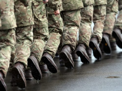 The report looked at how female members of the armed forces are treated (PA)