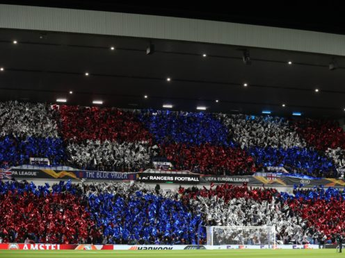 Rangers fans have been handed extra tickets (Andrew Milligan/PA)