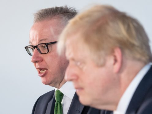 Prime Minister Boris Johnson and Chancellor of the Duchy of Lancaster, Michael Gove (PA)