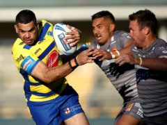 Greg Inglis, left, has been released by Warrington (Tim Goode/PA)