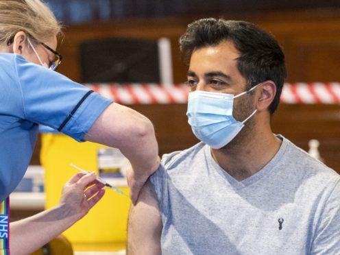 Scottish Health Secretary Humza Yousaf urged Scots to 'get jagged in July' (Jane Barlow/PA)