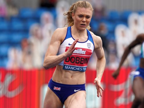 Beth Dobbin runs in the 200m for Team GB (Martin Rickett/PA)