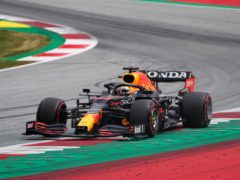 Max Verstappen finished fastest in the first practice session (Darko Bandic/AP)