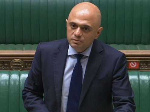 Health Secretary Sajid Javid has apologised for using the word 'cower' in reference to the public's response to Covid (PA)
