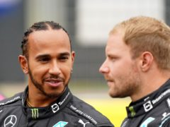 Mercedes driver Lewis Hamilton, left, and Valtteri Bottas were fastest in second practice (Tim Goode/PA)