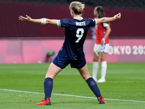 Ellen White scored twice against Chile (Silvia Izquierdo/AP)