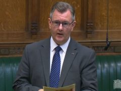 DUP leader Sir Jeffrey Donaldson (House of Commons/PA)