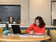 A girl studying at home as the Commons Education Select Committee slammed the 'opaqueness' of home schooling (Martin Rickett/PA)
