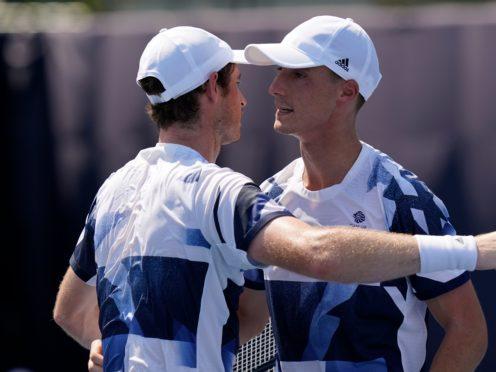 Andy Murray, left, and Joe Salisbury continued their winning run in Tokyo (Seth Wenig/AP)