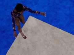 Simone Biles, of United States, steps out in Tokyo (AP)