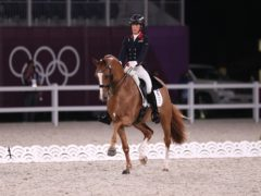 Charlotte Dujardin helped Team GB secure a bronze medal (Friso Gentsch/PA)