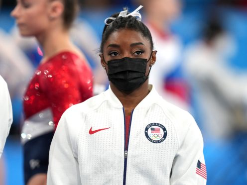 Simone Biles is set to reconsider her future at the Tokyo Games (Martin Rickett/PA)