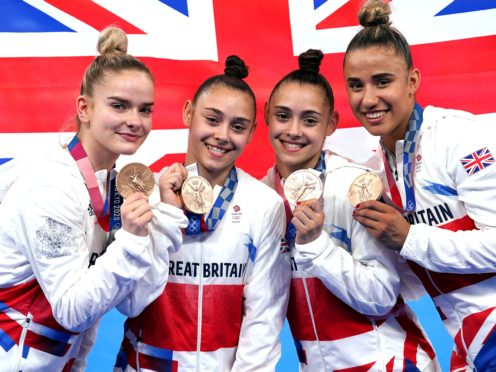 Great Britain's women's gymnastics team claimed a stunning bronze medal in Tokyo (Martin Rickett/PA)