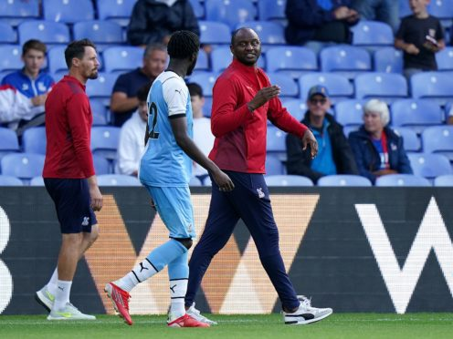 Patrick Vieira is attempting to change Crystal Palace's style of play this summer (Tess Derry/PA)