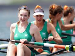 The Irish women's four look delighted after winning bronze (Mike Egerton/PA)